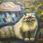 Persian cat original painti..
